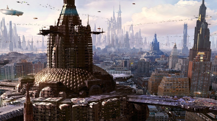 science fiction, futuristic city, artwork, futuristic
