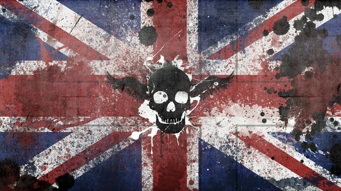 flag, skull, UK