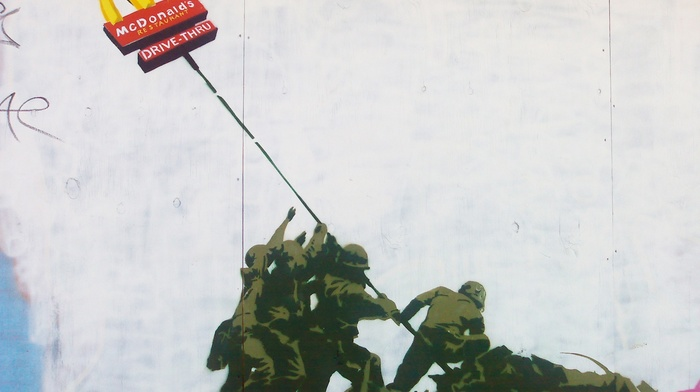 graffiti, McDonalds, artwork, Banksy