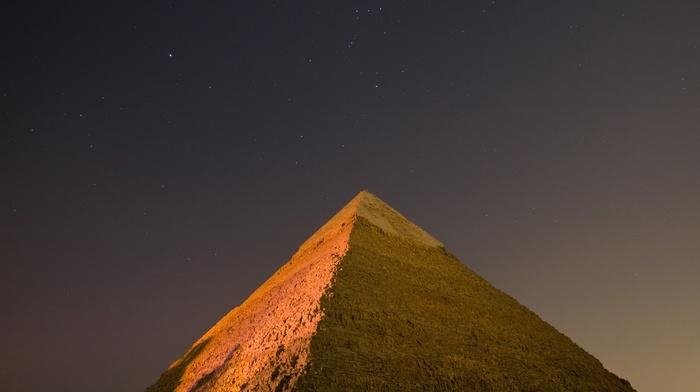 bricks, stars, sky, night, egypt, Pyramids of Giza, Gize, pyramid