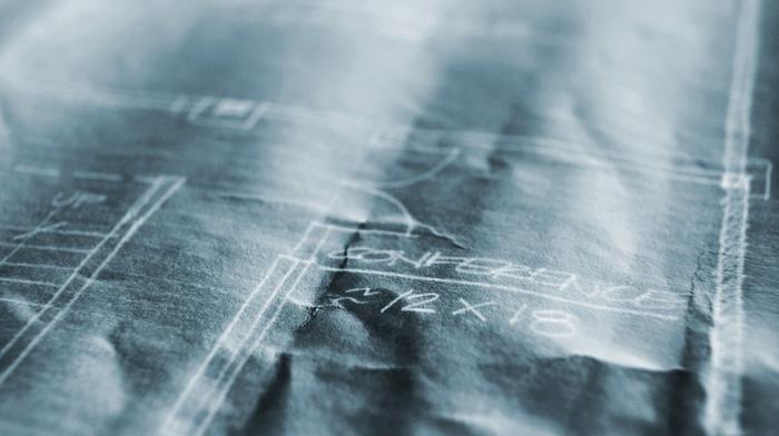 numbers, building, paper, blueprints