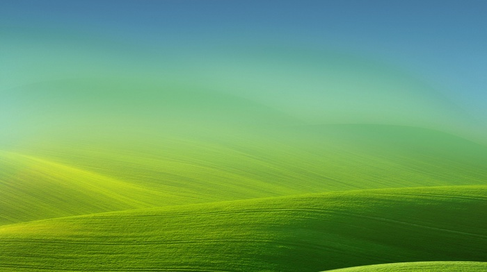 landscape, simple, nature, gradient, green, field, hills