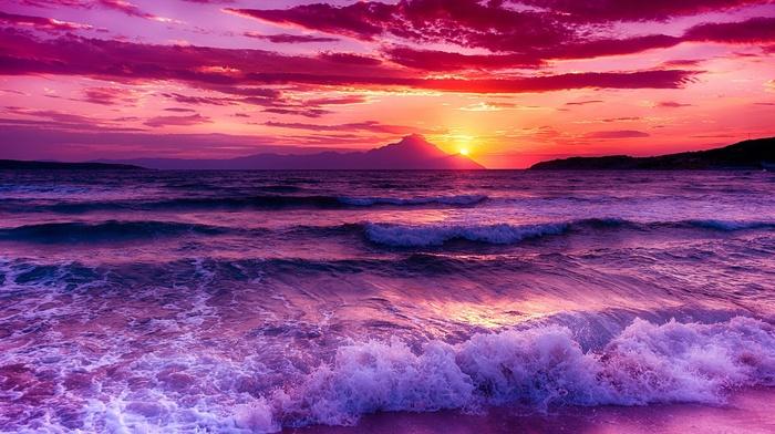 sea, nature, beach, Sun