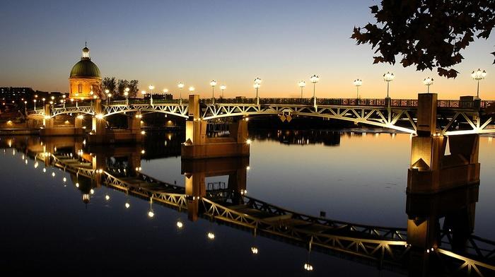 France, Pont Saint, Pierre, bridge, Garonne, river, Toulouse