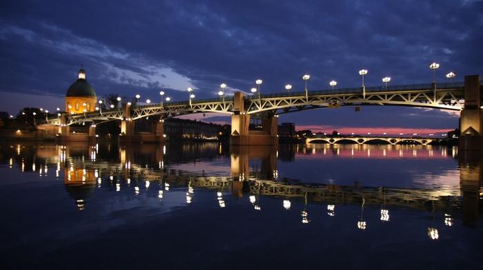 France, Pont Saint, Pierre, river, Toulouse, Garonne, bridge