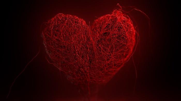 yarn, vector art, heart, Valentine