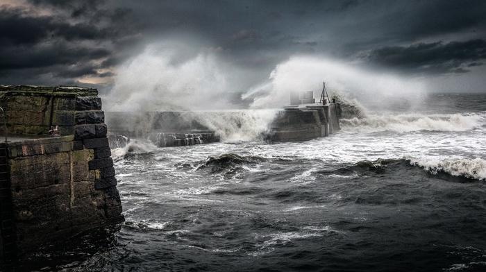 sea, waves, storm, nature, coast