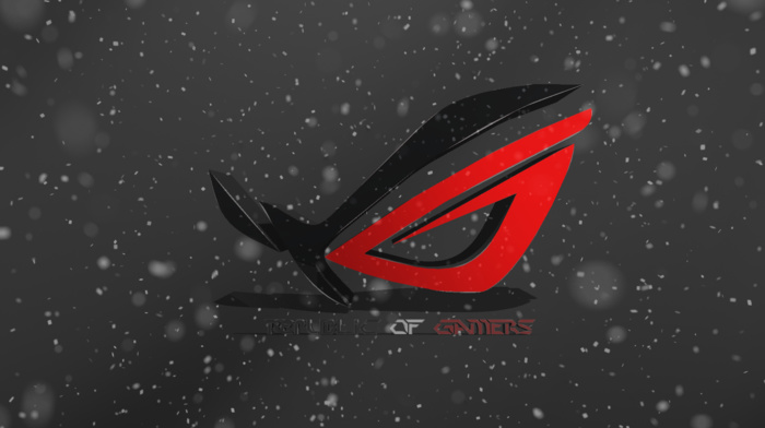 red, logo, republic of gamers, spike, asus, 3D, black, photo manipulation, photoshop