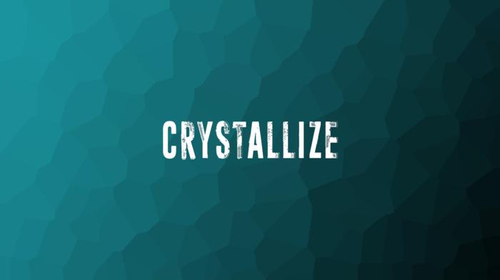 crystallized, blue