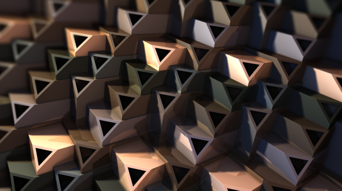 3D fractal, abstract, triangle