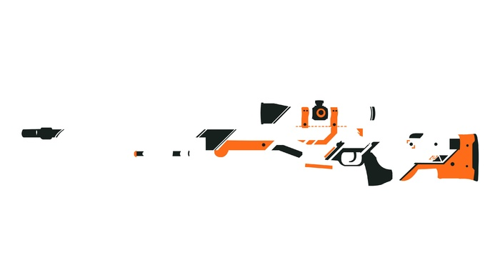 Counter, Strike, Asiimov, minimalism, Counter, Strike Global