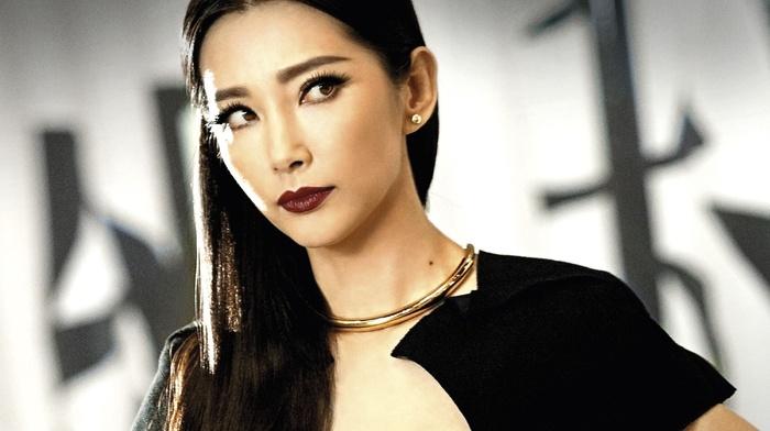 looking away, necklace, movies, brown eyes, Transformers Age of Extinction, Asian, brunette, Li Bingbing, girl, long hair