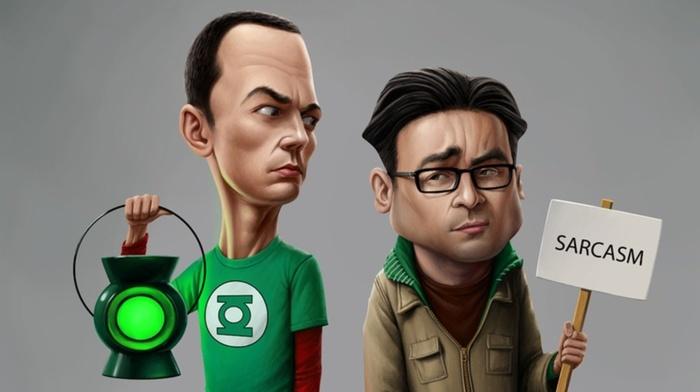 sarcasm, The Big Bang Theory, TV, Sheldon Cooper, humor, Leonard Hofstadter