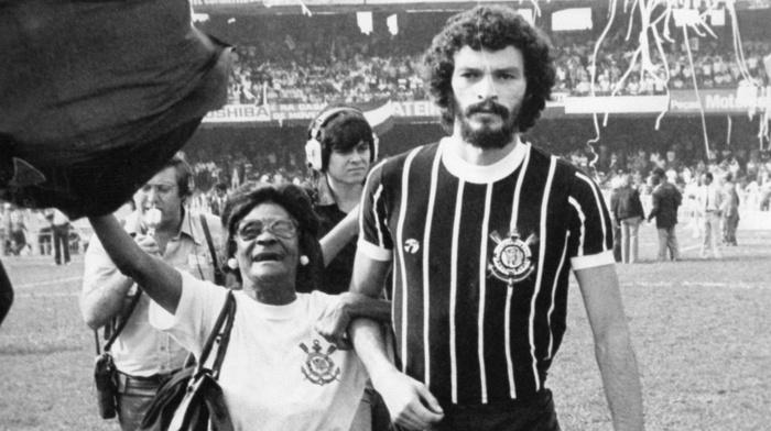 footballers, Corinthians, Socrates, Brasil, soccer