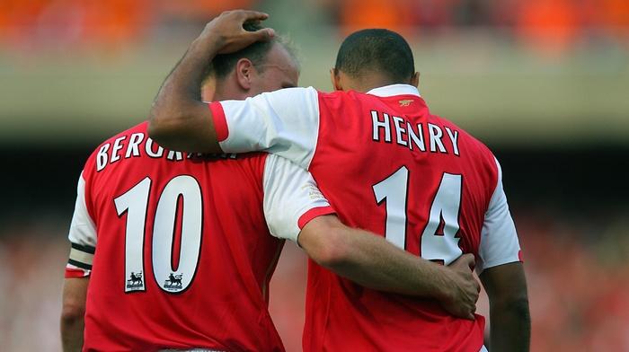 Arsenal, soccer, Thierry Henry, footballers, Dennis Bergkamp