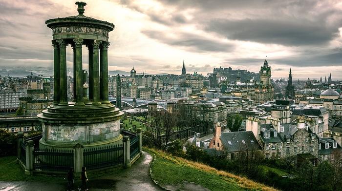 column, cityscape, Edinburgh, city, architecture, UK, Scotland