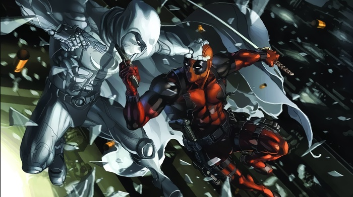 Moon Knight, Marvel Comics, Deadpool, Merc with a mouth