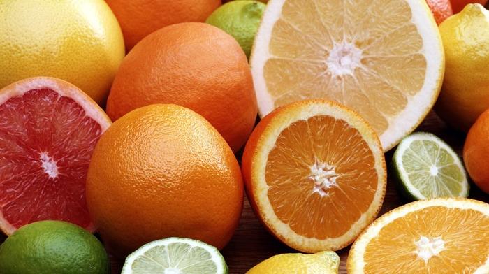 grapes, yellow, lemons, lime, food, fruit, limes, orange fruit