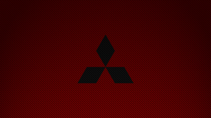 Mitsubishi, red, simple, car, logo, carbon fiber, brands