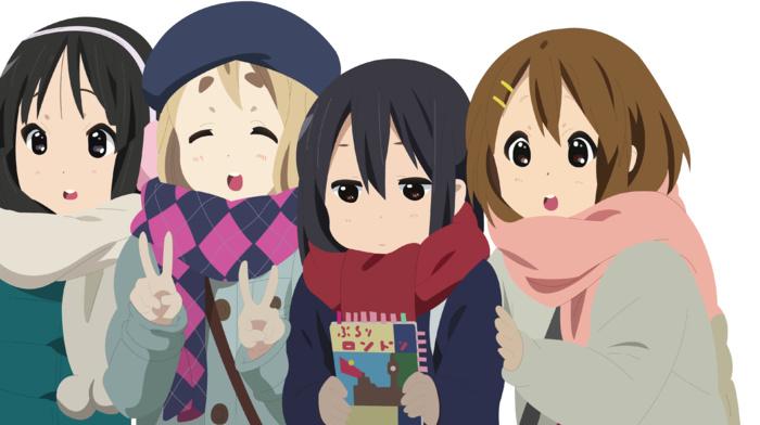 vector, K, on, Akiyama Mio, Nakano Azusa, Hirasawa Yui, anime girls, Kotobuki Tsumugi