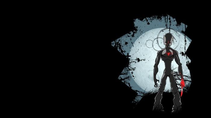 moon, knife, blood
