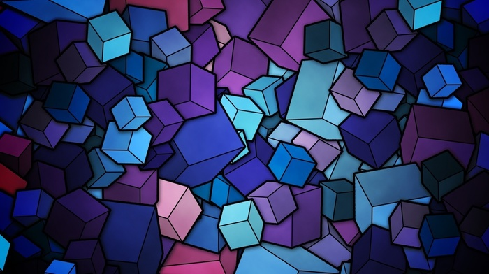 abstract, cube