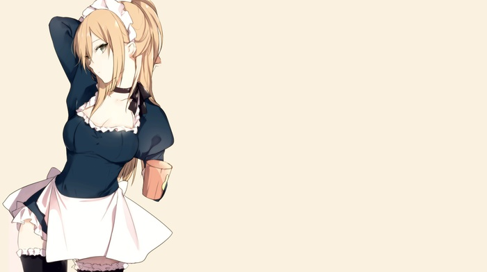 maid outfit, anime girls, maid, original characters
