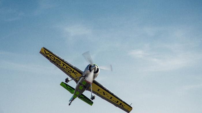 vehicle, lights, fly, sky, airplane