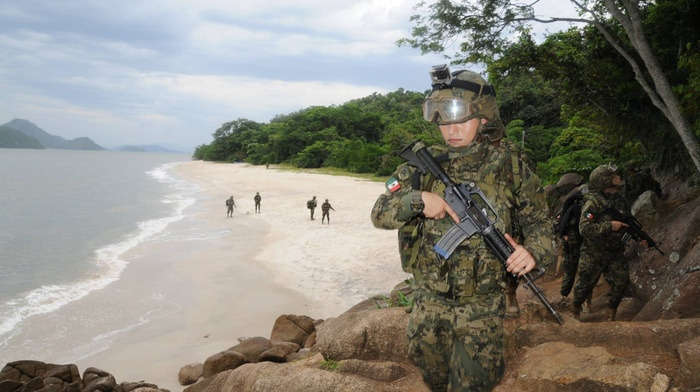 female soldier, soldier, Mexico, Mexican Marines, army, war, military