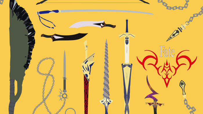 anime, fantasy weapon, illustration, fate series, weapon, FateStay Night, vector, anime vectors