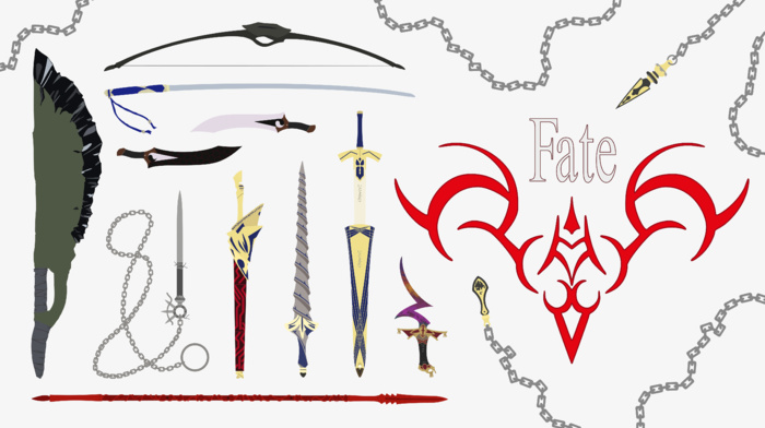 weapon, anime, anime vectors, fate series, vector, fantasy weapon, FateStay Night, illustration