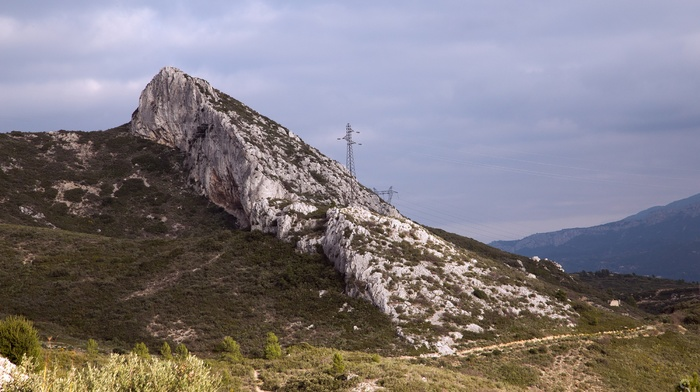 nature, landscape, rock, photography, panorama, France, Garlaban