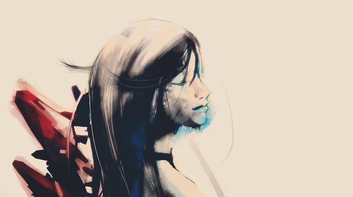 abstract, paint splatter, artwork, digital art