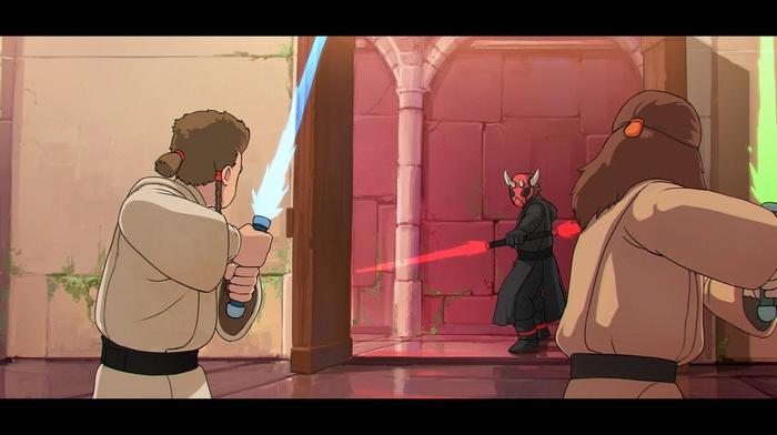 Star Wars The Phantom Menace, Qui, Gon Jinn, Darth Maul, Obi, Wan Kenobi, Star Wars