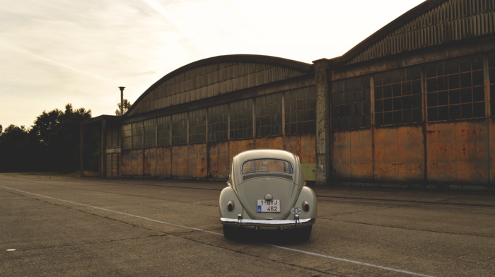 Belgium, oldtimers, car, Volkswagen Beetle, Volkswagen, vintage, vehicle, old building