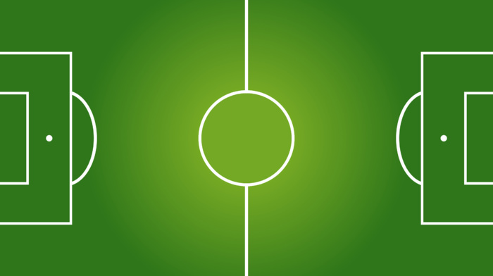 sports, minimalism, gradient, soccer pitches