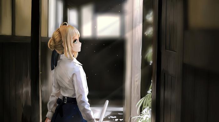 anime, fate series, anime girls, Saber