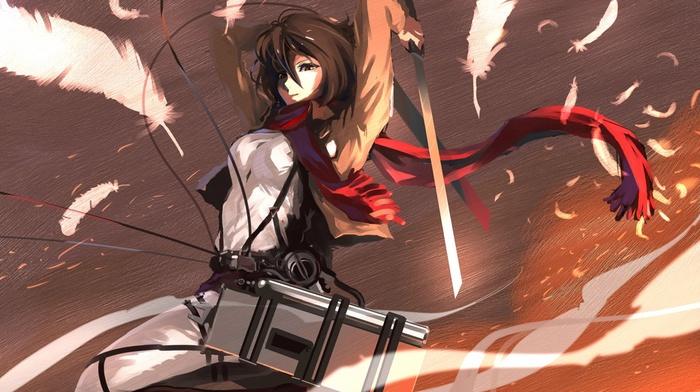 feathers, Shingeki no Kyojin, Mikasa Ackerman