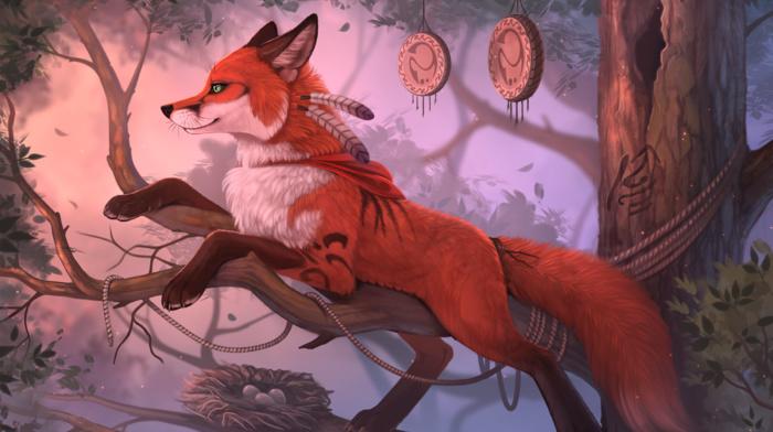 fox, animals, furry, fantasy art