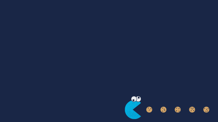 minimalism, Cookie Monster, Pac, man, humor