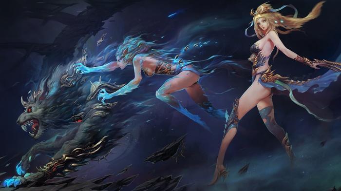 original characters, fantasy art, anime girls, anime