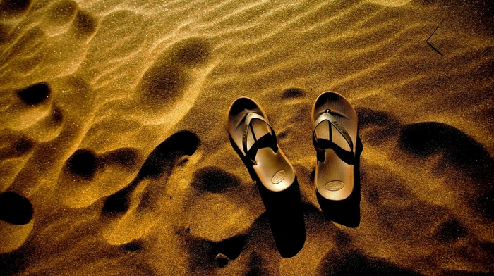 sand, shoes