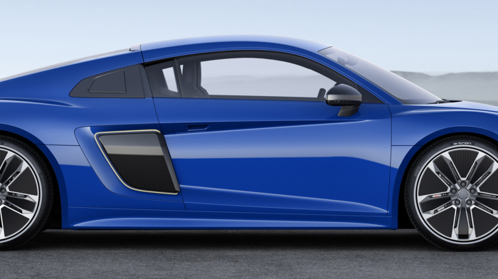 car, blue cars, dual monitors, Super Car, electric car, vehicle, multiple display, audi r8