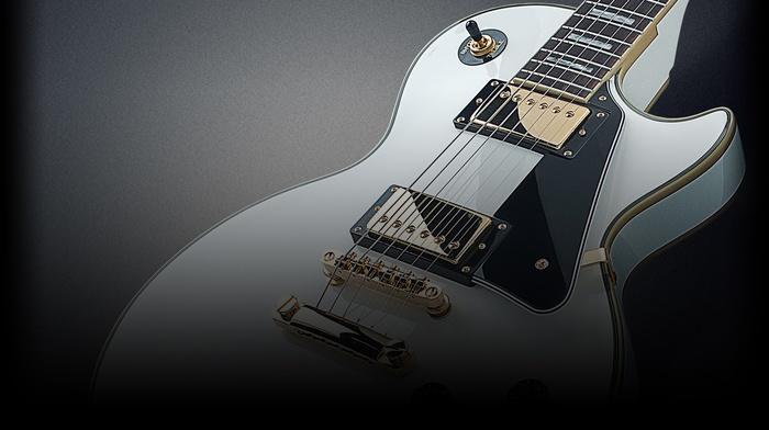 white, gold, Les paul, guitar, Rocksmith, Gibson, music