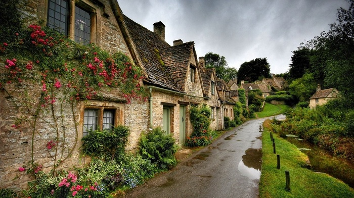 nature, garden, grass, urban, photography, old, street, England, house, flowers, landscape, architecture