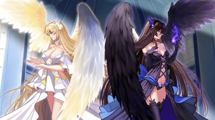 original characters, angel, anime girls, anime, Fallen Angel, wings