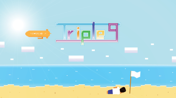 alone, beach, pixels, summer, androids, vector art, animated movies, video games, Triple 9, island, android games, 999