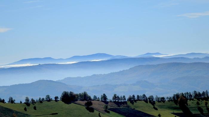 plains, Serbia, landscape, summer, hills, nature
