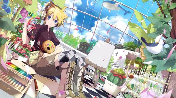 anime boys, Kagamine Len, anime