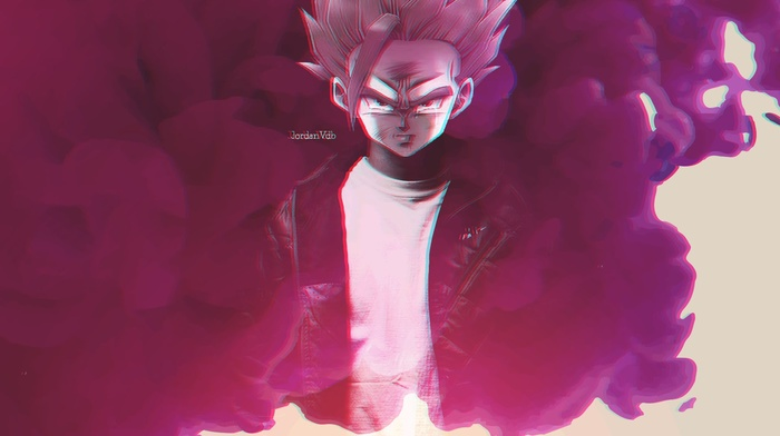 pink, anime, manga, Dragon Ball, smoke, 3D